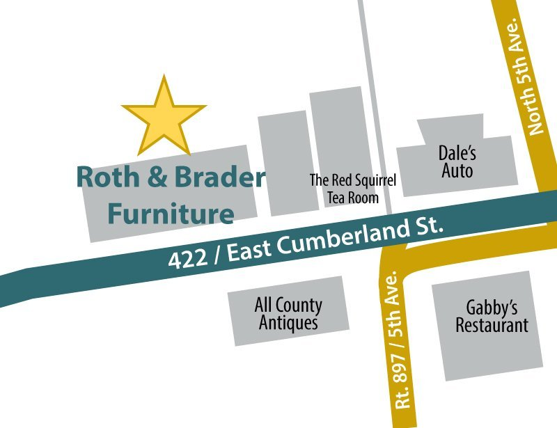 Map to Roth & Brader Furniture