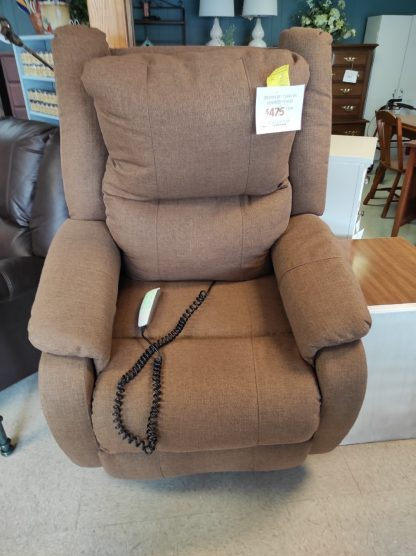 BROWN LIFT CHAIR WITH HEADREST POWER 4