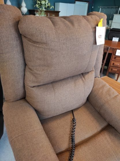 BROWN LIFT CHAIR WITH HEADREST POWER 3