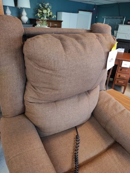 BROWN LIFT CHAIR WITH HEADREST POWER 2