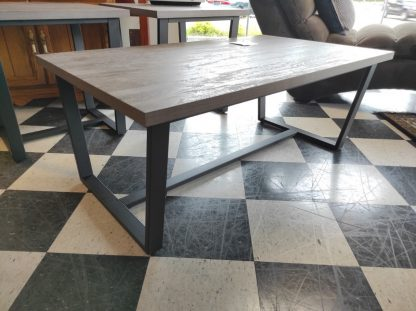3 PIECE GRAY AND METAL END TABLE SET BY LANE 3