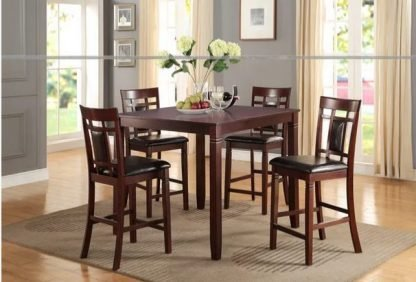 COUNTER HEIGHT TABLE WITH 4 CHAIRS 1
