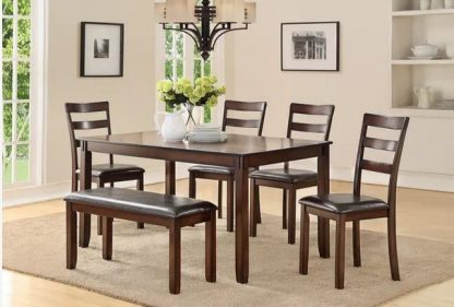 TABLE WITH 4 CHAIRS & 1 BENCH 1