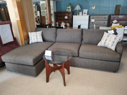 CHOCOLATE COLORED SECTIONAL WITH CHAISE END 1