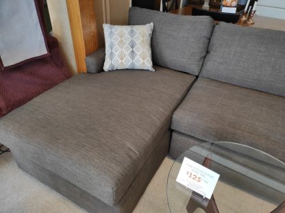 CHOCOLATE COLORED SECTIONAL WITH CHAISE END 3
