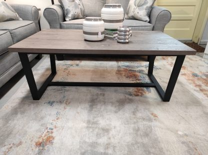 3 PIECE GRAY AND METAL END TABLE SET BY LANE 1