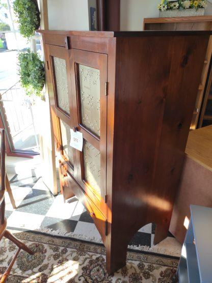 TWO DOOR WOOD PIE SAFE STORAGE CABINET 5