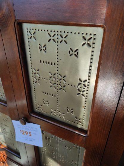 TWO DOOR WOOD PIE SAFE STORAGE CABINET 3