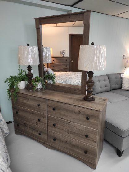 QUEEN WEATHERED GRAY BEDROOM SET 3