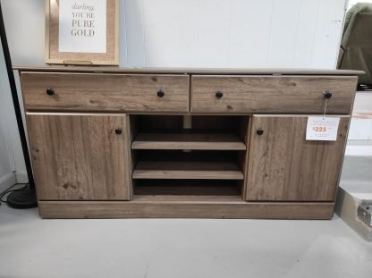 WEATHERED GRAY TV STAND 1