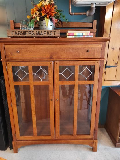 LEADED GLASS DISPLAY CABINET BY LEXINGTON 1