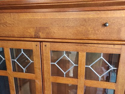 LEADED GLASS DISPLAY CABINET BY LEXINGTON 2