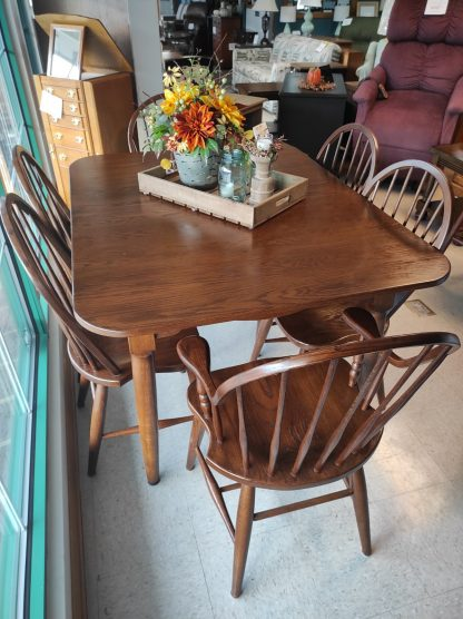 SOLID WOOD- PINE TABLE WITH 6 CHAIRS 1