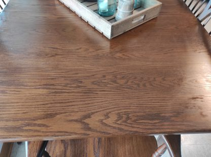 SOLID WOOD- PINE TABLE WITH 6 CHAIRS 2