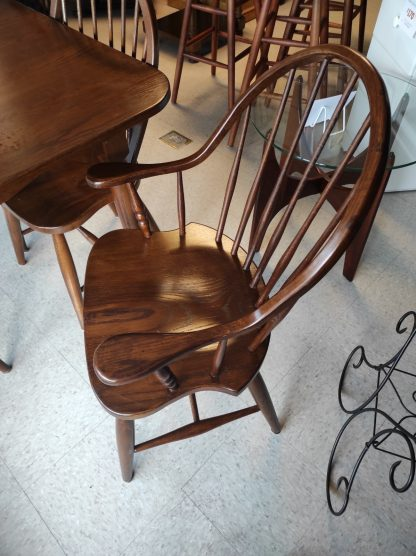 SOLID WOOD- PINE TABLE WITH 6 CHAIRS 4
