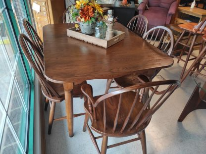 SOLID WOOD- PINE TABLE WITH 6 CHAIRS 5