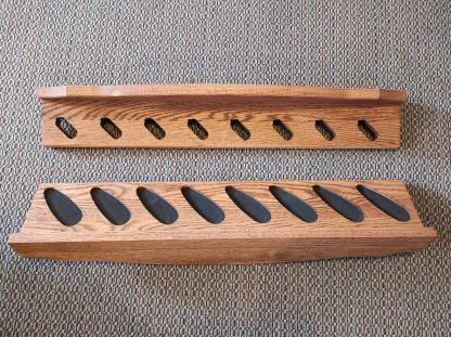 LOCALLY MADE RED OAK GUN RACK 1
