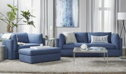 NEW NAVY BLUE LIVING ROOM SET 1