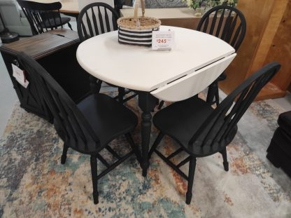 BLACK AND WHITE PAINTED MATTE TABLE 1
