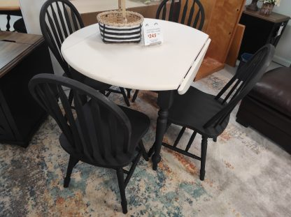 BLACK AND WHITE PAINTED MATTE TABLE 3