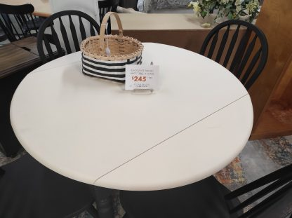 BLACK AND WHITE PAINTED MATTE TABLE 2