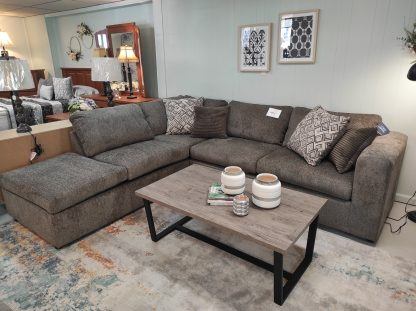 TABBY BROWN SECTIONAL WITH CHAISE END 1