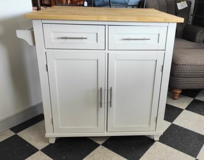 WHITE KITCHEN ISLAND W/ EXTENSION COUNTER 4