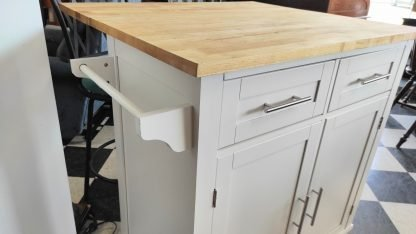 WHITE KITCHEN ISLAND W/ EXTENSION COUNTER 3