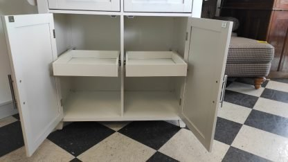 WHITE KITCHEN ISLAND W/ EXTENSION COUNTER 2
