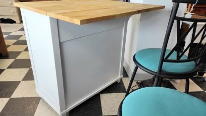 WHITE KITCHEN ISLAND W/ EXTENSION COUNTER 6