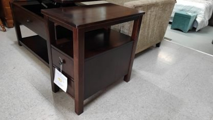 NARROW CHERRY FINISH STORAGE END TABLE 1