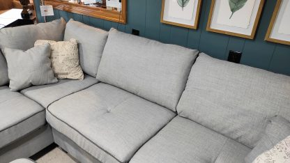 NEW! CLOUD GRAY SECTIONAL & STORAGE OTTOMAN 5