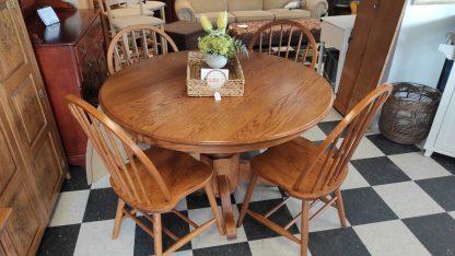 oak table set