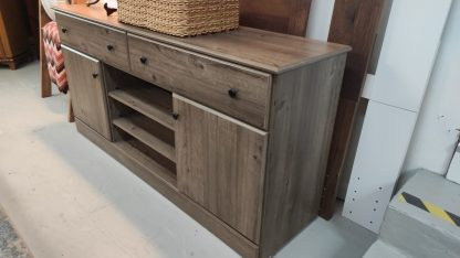 NEW! WEATHERED GRAY TV STAND 4