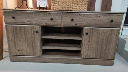 NEW! WEATHERED GRAY TV STAND 1