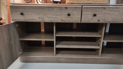 NEW! WEATHERED GRAY TV STAND 3