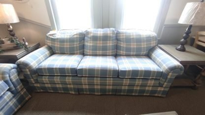COTTAGE BLUE SOFA & CHAIR MADE BY HALLAGAN 2