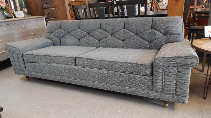 PRISTINE 1963 MIDCENTURY MODERN GRAY SOFA & CHAIR 8