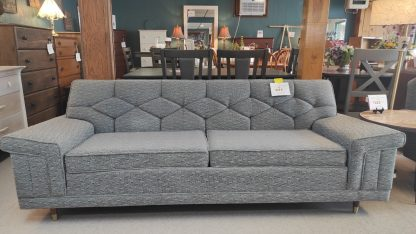 PRISTINE 1963 MIDCENTURY MODERN GRAY SOFA & CHAIR 1