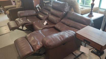 BROWN POWER RECLINING SOFA 3