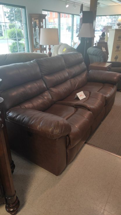 BROWN POWER RECLINING SOFA 1