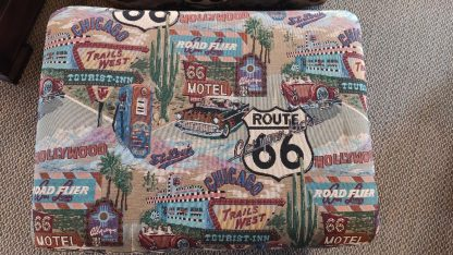 UNIQUE! ROUTE 66 UPHOLSTERED CHAIR & OTTOMAN 2