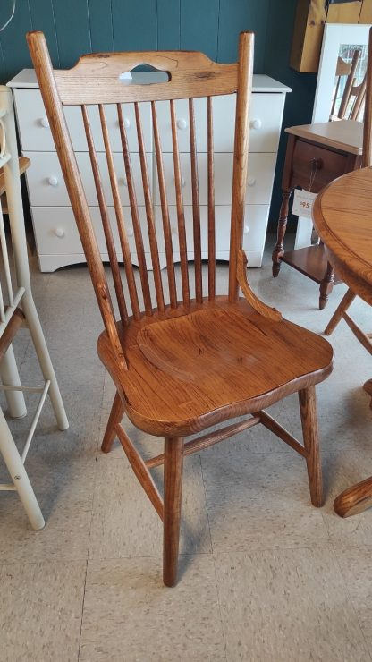 OAK PEDESTAL TABLE: 4 CHAIRS + 1 BOARD 3